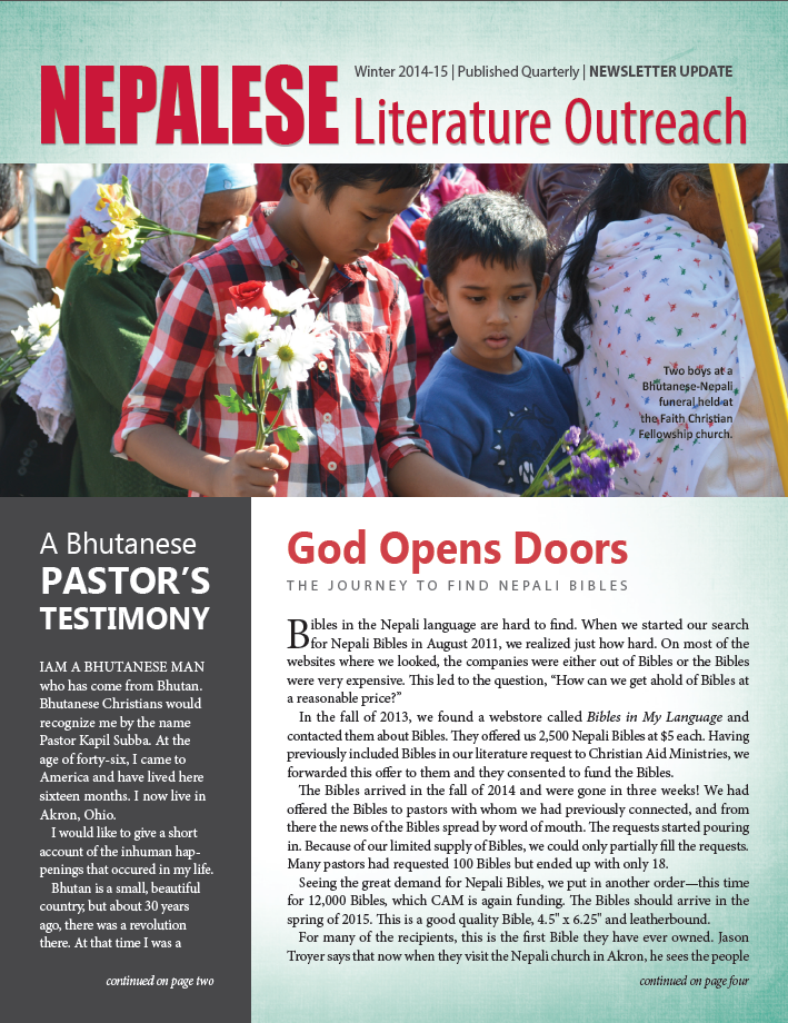 2014-2015 Winter - Newsletter